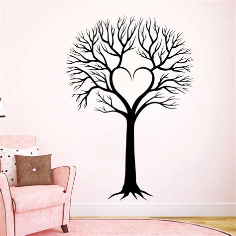 tree silhouette wall sticker wall decal tree silhouette decals from decalsfromdavid on