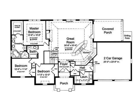 Marvelous One Story Country House Plans With Porches #7: Country-house-plans-open-floor-plan.gif