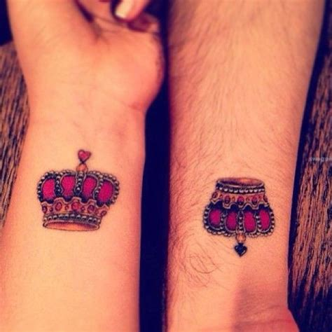tattoo queen king cute king and queen wrist tattoo for couple cool tattoo