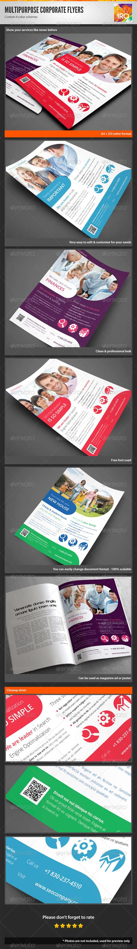 Template Multipurpose Vol Ii Brosur Banner Katalog Flyer Template Ikl multipurpose corporate flyers magazine ads vol 2 graphicriver