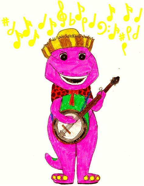 Barney And The Backyard Gang Dvd Barney Playing The Banjo By Bestbarneyfan On Deviantart