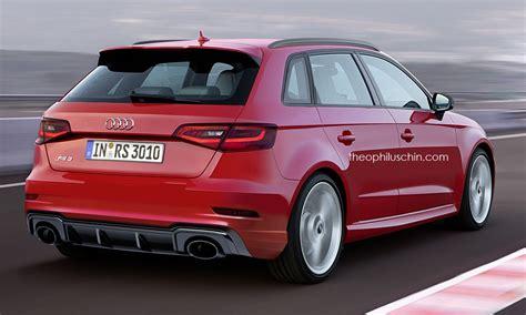 audi model audi rs3 sportback facelift rendering should preview 2017