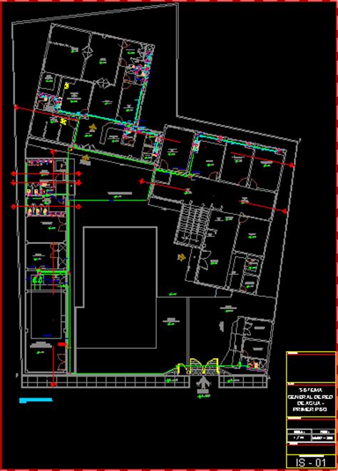 plumbing design health center dwg project for