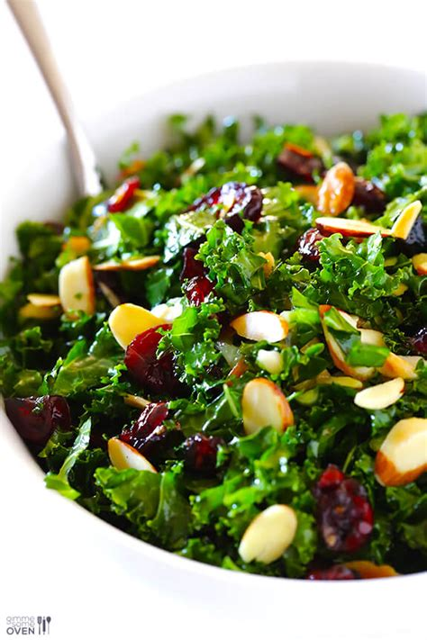 Http Www Gimmesomeoven Seriously Delicious Detox Salad by Kale Salad With Warm Cranberry Vinaigrette Gimme Some Oven