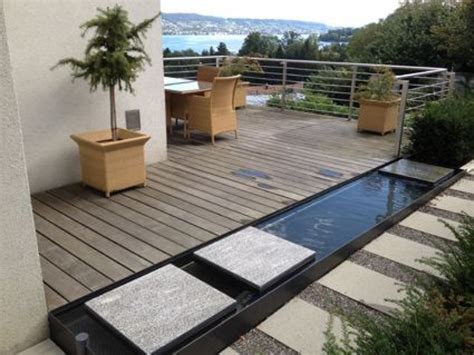 terrasse mit teich pinterest beste garten ideen