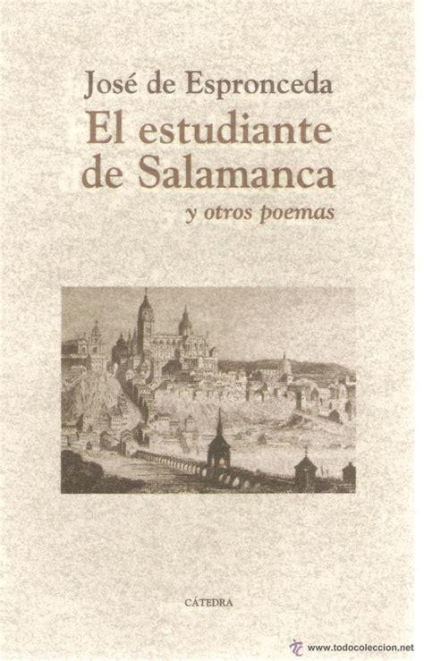 libro estudiante de salamanca el jose de espronceda el estudiante de salamanca comprar libros de poes 237 a en todocoleccion