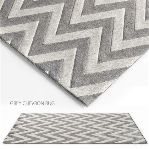 Chevron Rug Grey by 3d Models Carpets Grey Chevron Rug