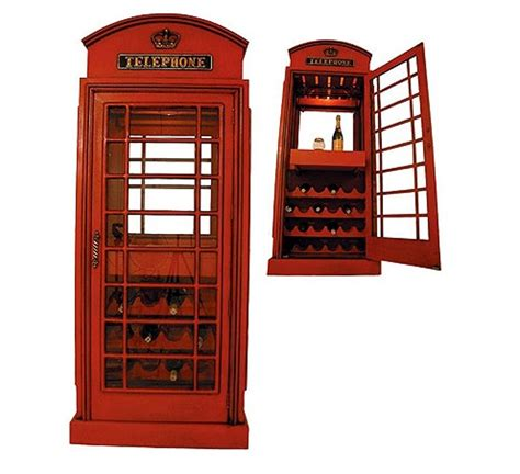 phone booth wine display cabinet