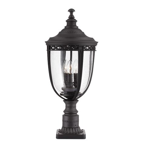 bridle large outdoor pedestal in a black finish