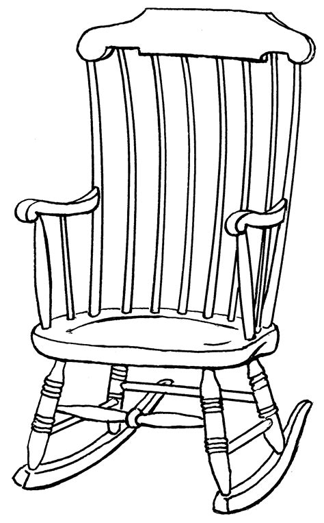 Kids Rocking Chair Drawing | outline drawings on chair clipart best