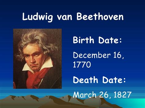 biography of beethoven ppt beethoven