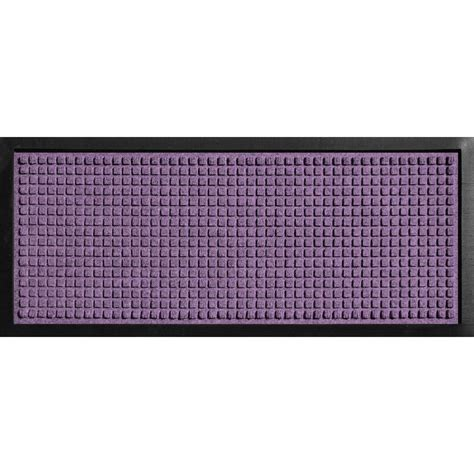 The Purple Mat by Bungalow Flooring Aqua Shield Boot Tray Squares Purple 15 In X 36 In Door Mat 20447681536