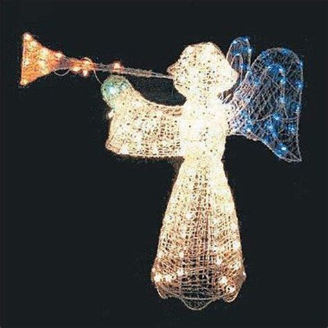 outdoor lighted christmas angel lighted outdoor christmas angel 200 lights crystal