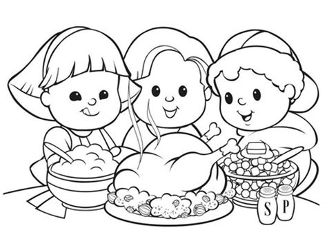 coloring pages for thanksgiving feast thanksgiving toddler coloring pages festival collections