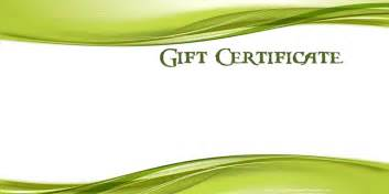 free template for certificates printable gift certificate templates