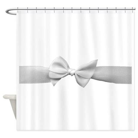 bow shower curtain hooks white ribbon bow shower curtain by inspirationzstore