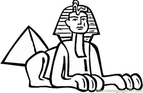 Sphinx Coloring Page Coloring Pages Sphinx In Egypt Countries Gt Egypt Free by Sphinx Coloring Page