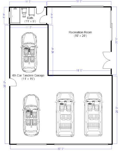 garage measurements i need to remove my 4th car tandem garage and add that space