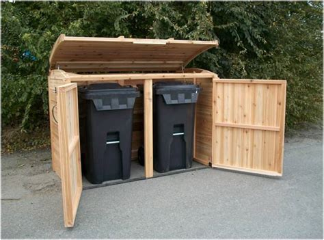 Trash Can Shed Plans by Guide Garbage Storage Shed Plans Haddi