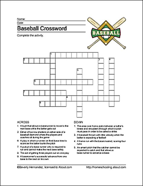 baseball word games printable baseball word search vocabulary crossword and more