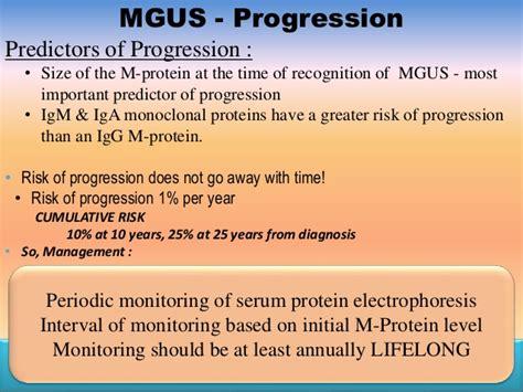 m protein mgus myeloma