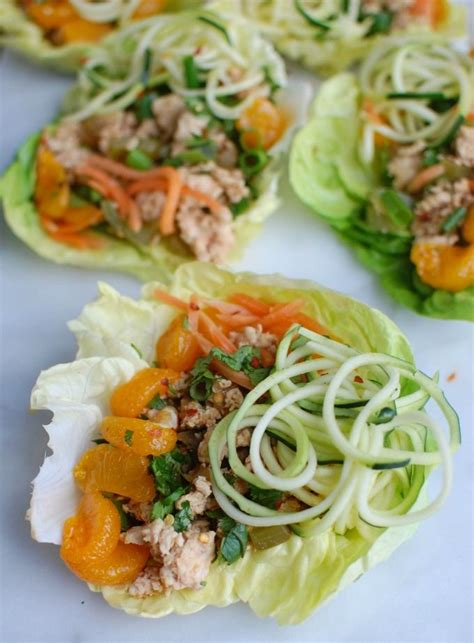 new year lettuce asian chicken zoodle lettuce wraps recipe zucchini