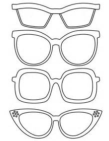 Glasses Template by Free Glasses Template Coloring Pages