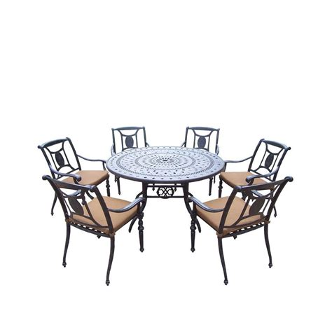 piece patio dining set cusions orig free pickup on hton hton bay belcourt 7 piece metal outdoor dining set with