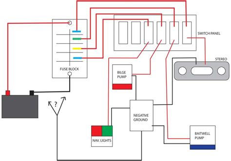 boat light wiring diagram newbie switch panel wiring questions the hull truth