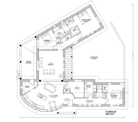 straw bale house plan with courtyard alternative living