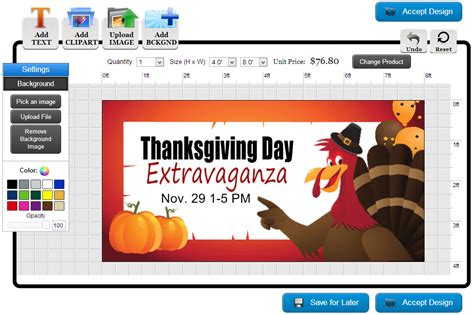 design banner online banners com how to make custom thanksgiving banners
