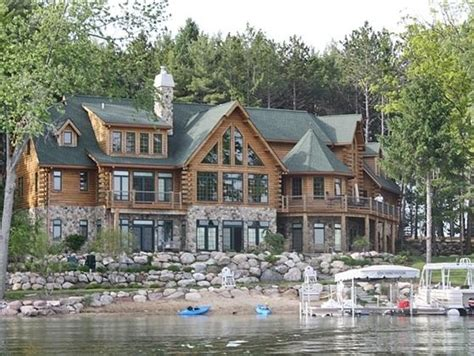 Michigan Cabin Builders by Luxury Michigan Lake Log Homes For Sale Search