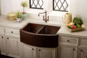Copper Kitchen Sink Pros And Cons Copper Sink With Farmhouse Design For Awesome Kitchen