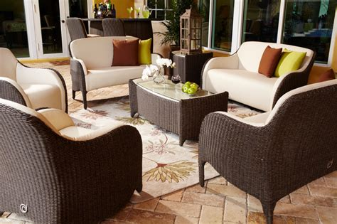 patio living room furniture luxor outdoor living room set traditional patio miami by el dorado furniture