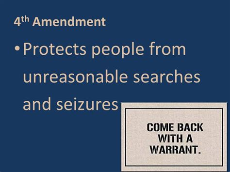 Which Amendment Protects From Unreasonable Searches And Seizures Notes On The Bill Of Rights Ppt