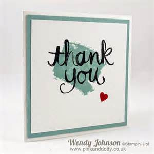pink and dotty clean and simple thank you cards stin up
