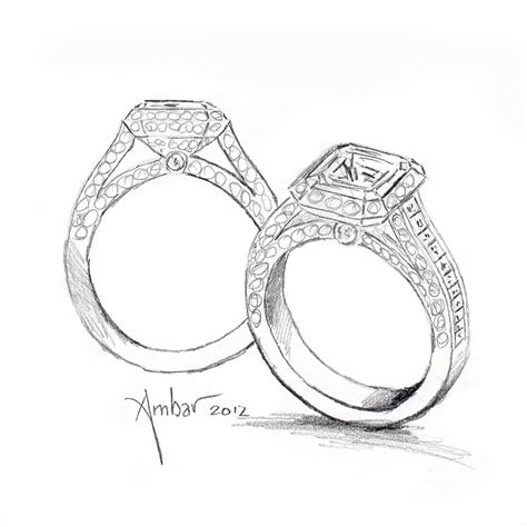 how to draw wedding rings ring engagement ring pencil and in color
