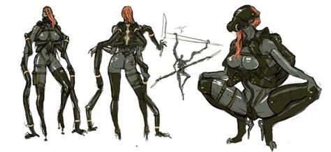 analyzing fallout 4 concept art aliens boss enemies have some metal gear rising revengeance concept art