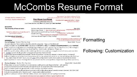mccombs resume template mccombs resume format 28 images mccombs resume