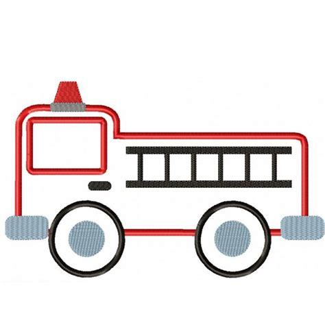 Firetruck Outline by Truck Applique Design