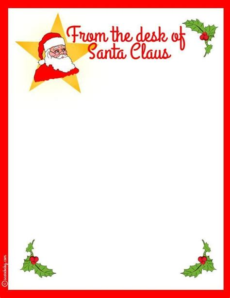 Free Letter To Santa Stationary