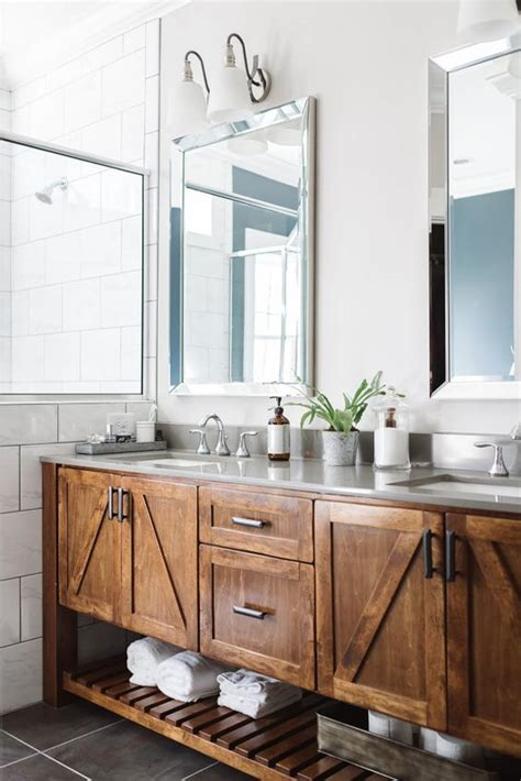 Vanity Design Plans by 34 Rustic Bathroom Vanities And Cabinets For A Cozy Touch Digsdigs