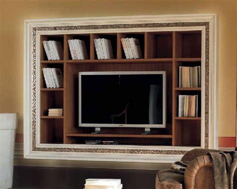 cornici mobili libreria a muro con cornice intarsiata porta tv df