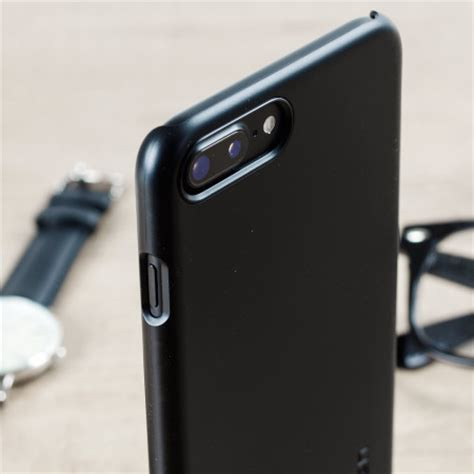 Spigen Thin Fit For Iphone 7 Plus by Spigen Thin Fit Iphone 7 Plus Shell Black