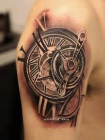 Realistic clock tattoo by v tattoos