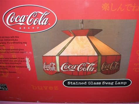 Coca Cola Light Fixture Coca Cola 19 Quot Stained Glass Swag L Lighting Pinterest Coca Cola Glasses And Ls