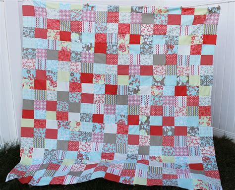 Simple Patchwork Quilt Pattern - free quilt patterns for beginners easy patchwork the