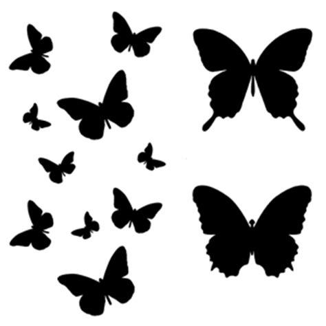 free printable butterfly wall art art stencil template butterfly flight silhouttes