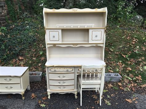 vintage desk with hutch provincial desk with hutch and chair attainable