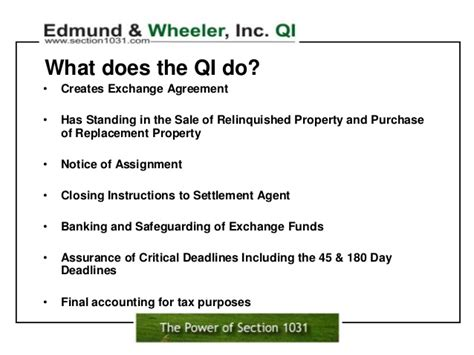 section 1031 exchange rules section 1031 qualified intermediary what qualifies for a